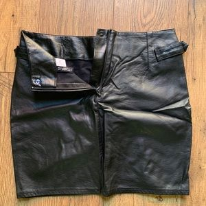 "Divided Skirts - ""Divided"" mini black faux-leather skirt"
